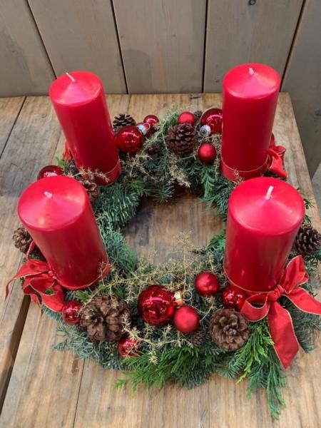 """Adventkranz """"Frohe Weihnacht"""""""